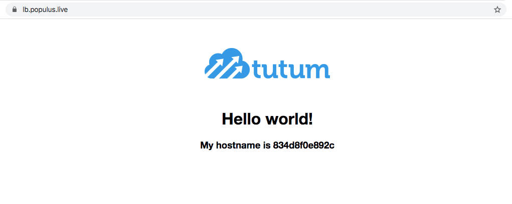 Tutum hello world